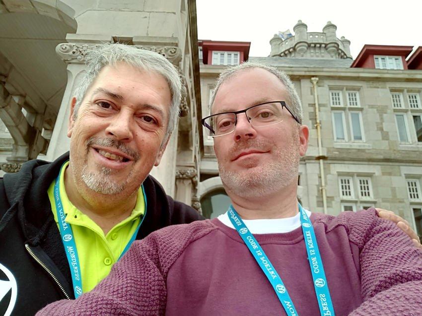 Fernando Tellado y Carlos Longarela