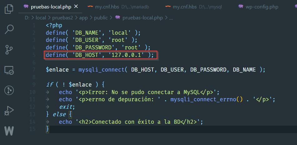 Conexión DB con IP