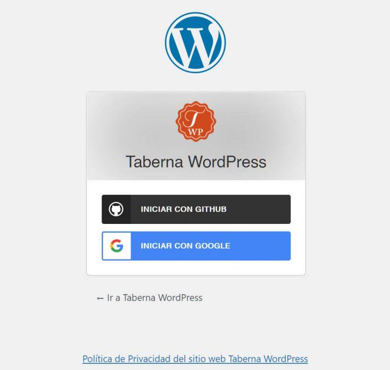 Administración Taberna WordPress